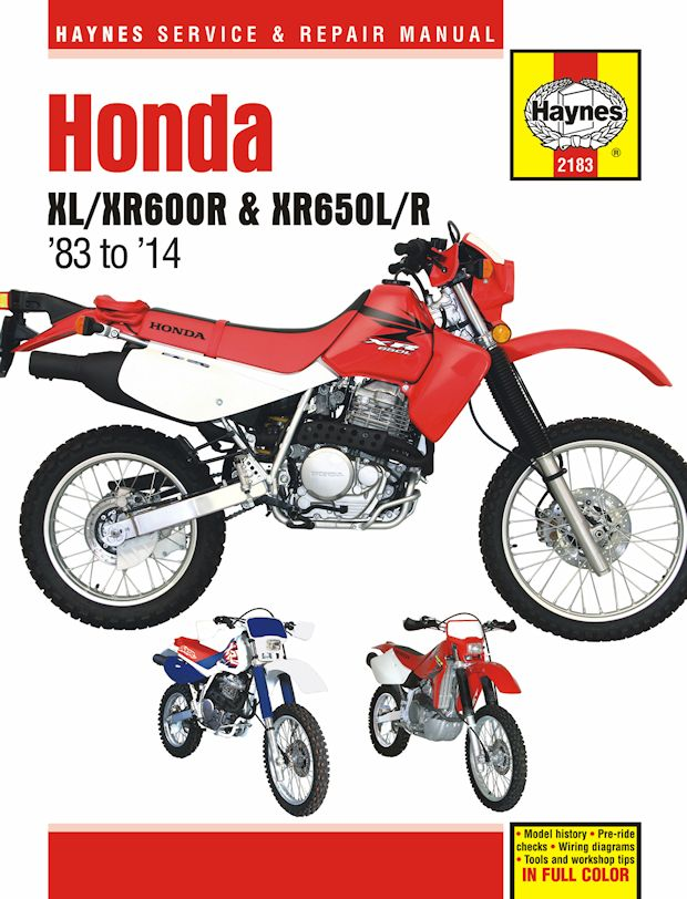 Honda XL600R, XR600R, XR650L, XR650R Repair Manual 1983-2014