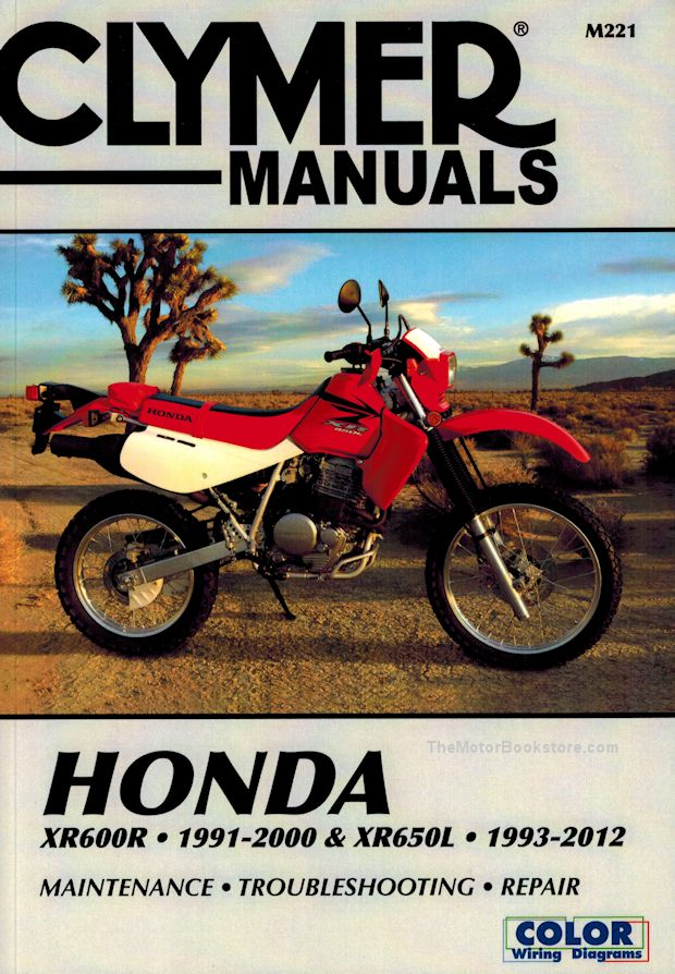 Honda XR600R 1991-2000, XR650L 1993-2012 Repair Manual