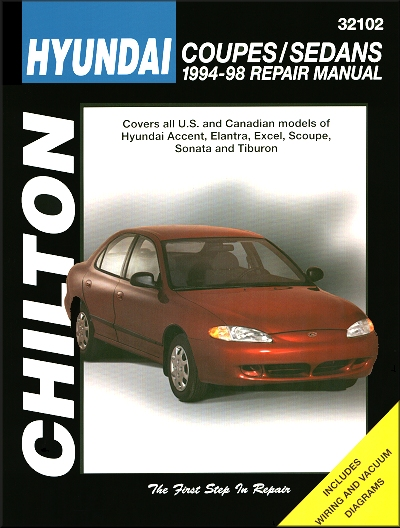 Hyundai Coupe, Sedan Repair Manual 1994-1998