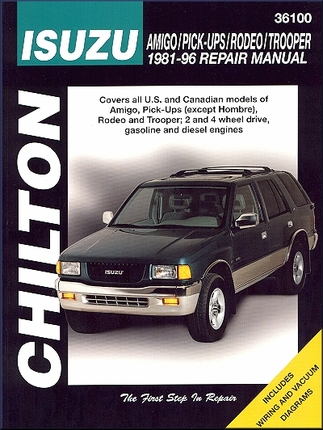 Isuzu Rodeo, Amigo, Trooper, Pickup Repair Manual 1981-1996