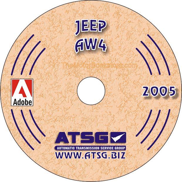 Jeep AW4 (30-40LE) Transmission Rebuild Manual on CD 1987-2001