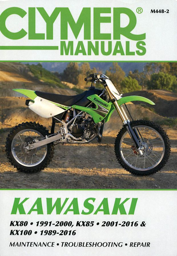 kawasaki kx80 kx85 kx100 repair manual 1989 2016 clymer m448 2