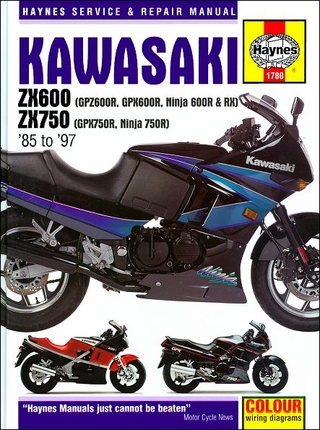 Kawasaki Ninja ZX600, ZX750R Repair Manual 1985-1997