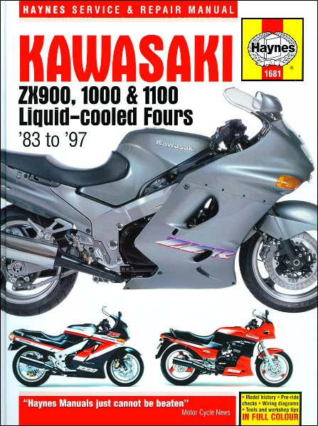 kawasaki ninja zx900 zx1000 zx1100 repair manual 1983 1997