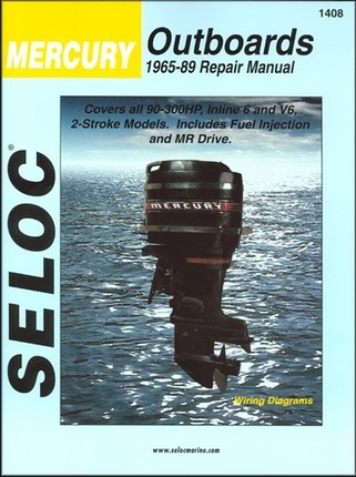 Mercury 90-300 HP 2-Stroke Repair Manual 1965-1989