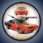 Mopar and Hemi Cuda Wall Clocks, Lighted