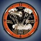 Motorcycle Wall Clocks, Lighted: Indian, BSA, Cafe Racer, V-Twin, Biker