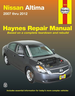 Nissan Altima  Repair Manual 2007-2012 Haynes