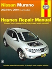 Nissan Murano Repair Manual 2003-2010