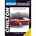 Nissan Stanza, 200SX, 240SX Repair Manual 1982-1992