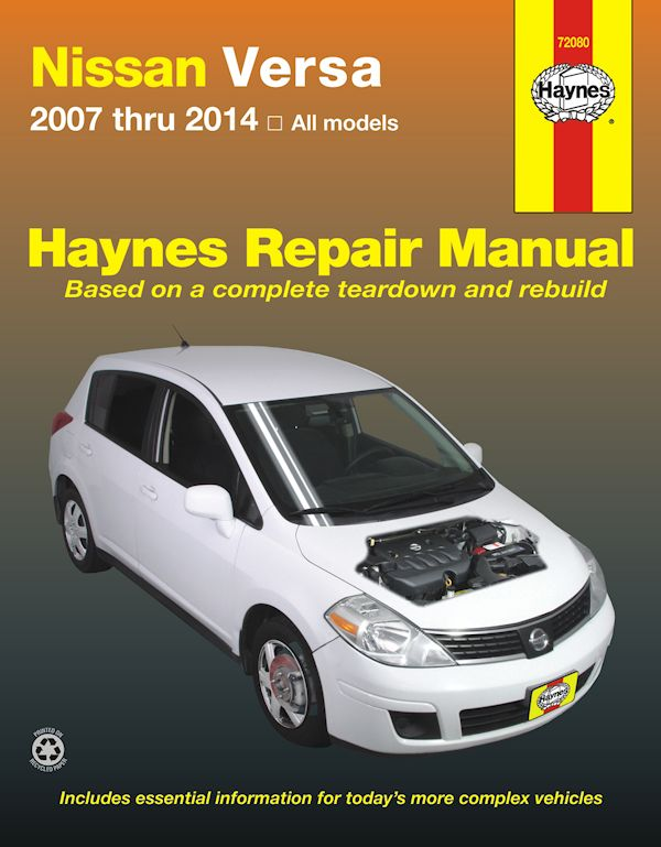 Nissan Versa Repair Manual 2007-2014