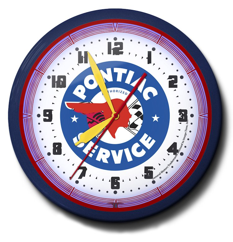 Parts and Services Theme Neon Clocks: High Quality