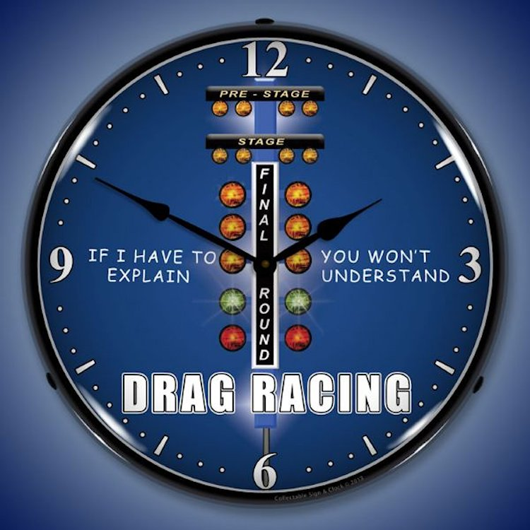 Drag Racing Clocks Lighted Wall Clocks Garage Clocks