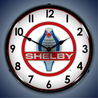 Shelby Lighted Clocks: Cobra, GT500, Super Snake