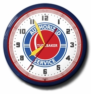 Studebaker Authorized Service Neon Clock, High Quality, 20 Inch