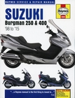 Suzuki Burgman 250 and 400 Scooter Repair Manual 1998-2015