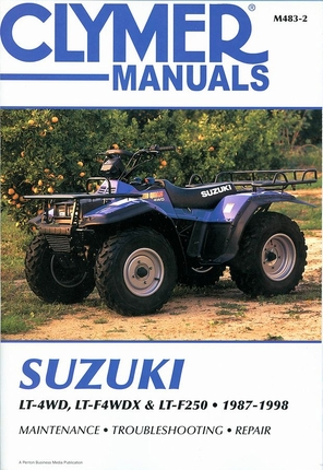 Suzuki LT-4WD, LT-4WDX, LT-F250, QuadRunner, King Quad ATV Repair Manual 1987-1998