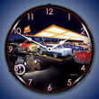 Teds Drive In Wall Clock, Lighted: Bruce Kaiser