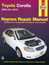 Toyota Corolla Repair Manual 2003-2013