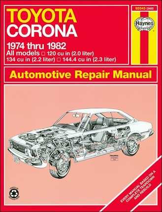 Toyota Corona Repair Manual 1974-1982