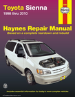Toyota Sienna Repair Manual 1998-2010