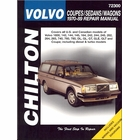 Volvo DL, GL, GT, GLE, GLT, Coupe Repair Manual 1970-1989