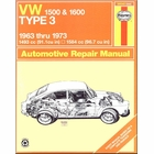 VW 1500, 1600 Type 3 Repair Manual 1963-1973