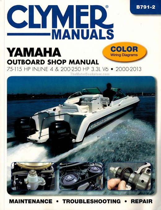 Yamaha 75-250 HP 4-Stroke Outboard Repair Manual 2000-2013
