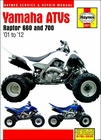 Yamaha Raptor 660, 700 Repair Manual 2001-2012