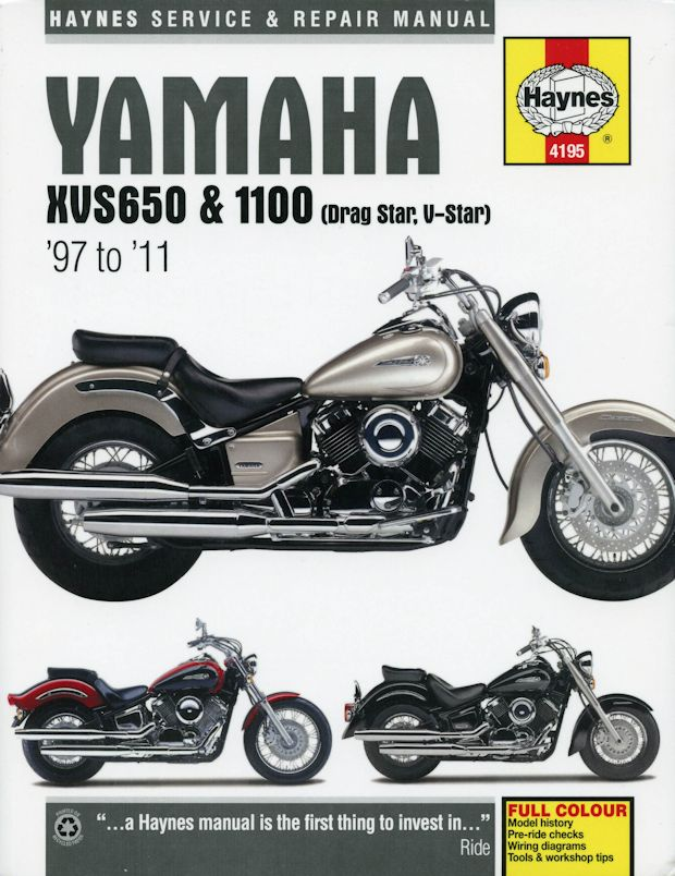yamaha xvs 650 1100 drag star v star repair manual 1997 2011
