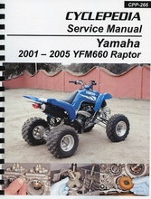 Yamaha YFM660 Service Manual (Raptor): 2001-2005