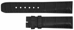 Baume et Mercier Strap Hampton Square 21mm Black Alligator Strap MX00302C