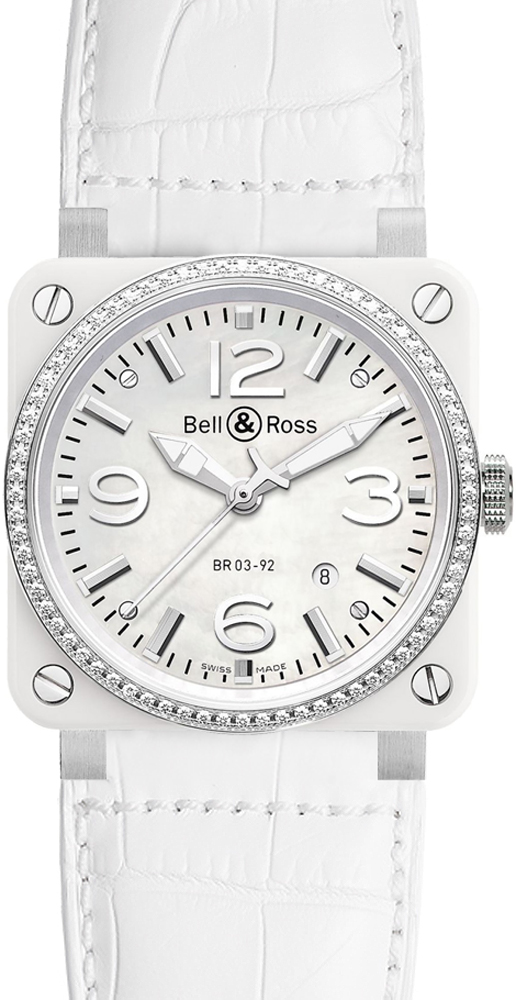 Bell & Ross Aviation BR0392-WH-C-D/SCA