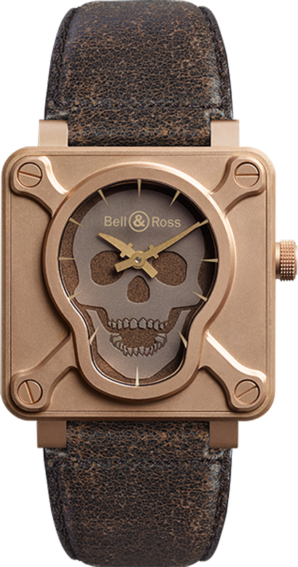 Bell & Ross Aviation BR01-92-SKULL-BR