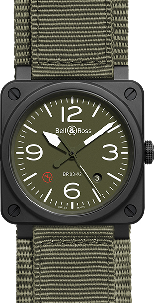Bell & Ross — Aviation — Ref No: BR-03-92-MILITARY-TYPE