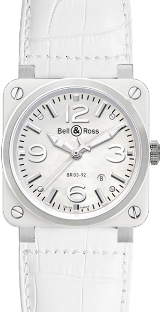 Bell & Ross Aviation BR0392-WH-C/SCA