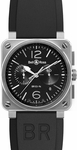Bell & Ross Aviation BR0394-BL-SI/SCA