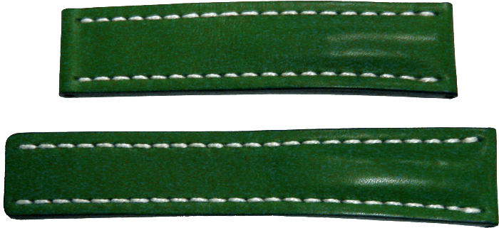 Breitling 22mm Green Leather Strap 191X 191X