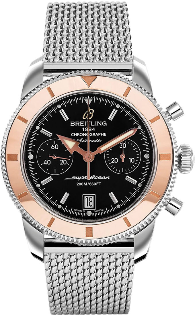 Breitling Superocean 44 >> U2337012/BB81 Breitling Superocean Heritage Chronograph Mens Automatic Rose Gold Bezel Watch