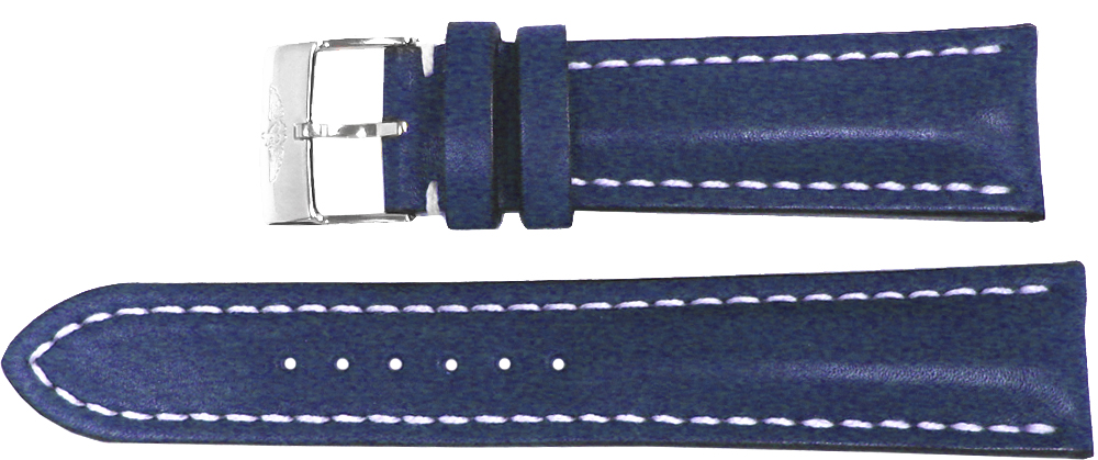 Breitling 22mm Blue Leather Strap 105X