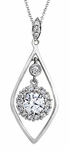 Diamond Pendant, .20 Carat Diamonds on 14K White Gold