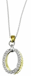 Diamond Pendant, .20 Carat Diamonds on 14K White & Yellow Gold