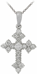 Diamond Pendant, .50 Carat Diamonds on 14K White Gold