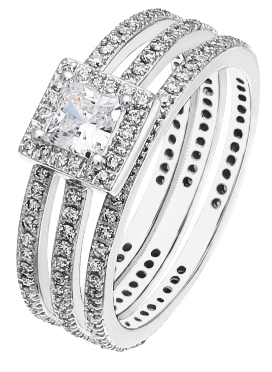 line Sale Diamond Gold La s Wedding Ring Set