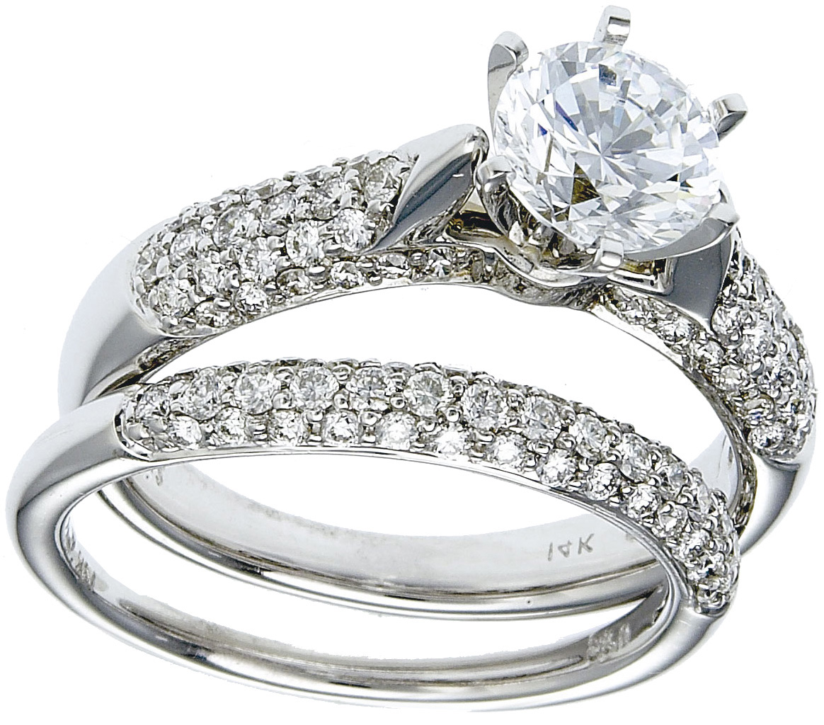 Gold Diamond Wedding Ring Set Deal!