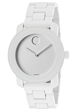 3600055 Movado White Dial White Pvd Steel Case And