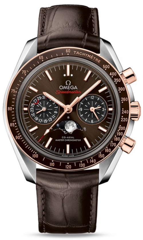 Sedna gold Omega Speedmaster Moonphase replica thewatchmenshop.com
