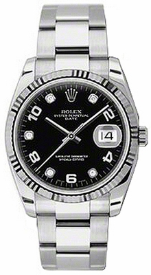 Rolex Perpetual 34mm Fluted Bezel 115234