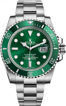 116610lv Rolex Submariner Green Dial Mens Automatic Watch