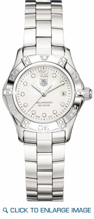 Waf141g Ba0813 Tag Heuer Aquaracer White Mother Of Pearl